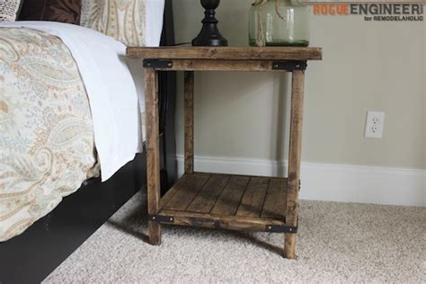 Building Bedroom End Tables by Remodelaholic Rustic Square Bedside Table Building Tutorial
