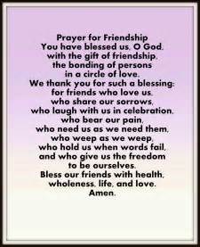 prayer for friendship friends