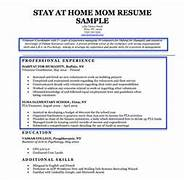 stay at home mom resume sample writing tips resume
