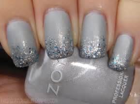 Grey glitter tips nail art ipaprom beautiful nails