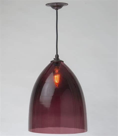 aubergine handblown glass shade pendant