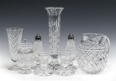 waterford crystal table ls 8 waterford cut crystal table items special italian