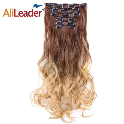 Alileader Natural 16 Clips Curly Clip In Hair Extensions