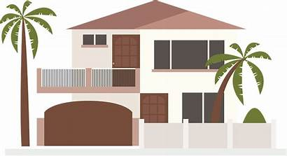 Clip Modern Icon Huis Palm Moderne Trees