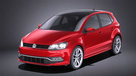 Volkswagen Polo 5-door 2015 VRAY 3D model | CGTrader