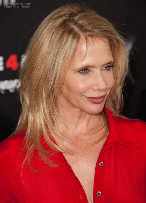 rosanna arquette  long hair resting   shoulders