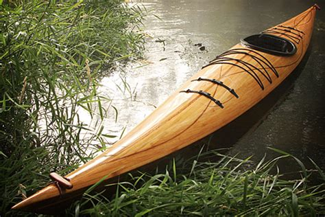 cedar strip wood kayak uncrate