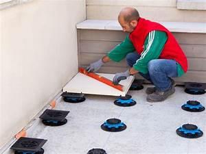 Dalles Sur Plots Pour Terrasse : pose des dalles rang e par rang e maisonapart ~ Premium-room.com Idées de Décoration