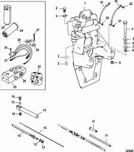 Mercruiser Bravo Xr Three Transom Plate  U0026 Shift Cable Parts