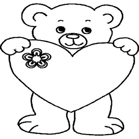 Kleurplaat Teddybeer by 27 Eenvoudig Kleurplaat Met Hart Werkbladen En