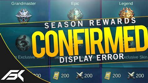 Season Rewards Display Error / Bug