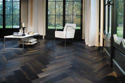 herringbone floors dark wood    herringbone