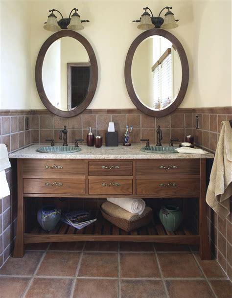 oval mirrors  bathroom vanities  decor