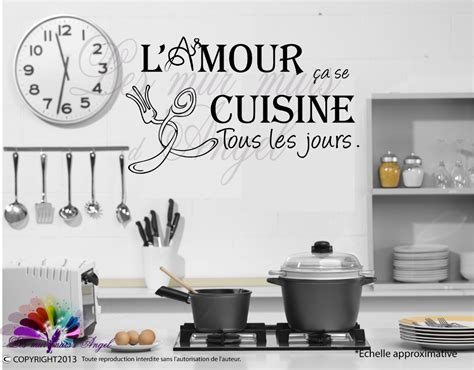 stickers muraux pour cuisine free stickers muraux dicton cuisine with stickers pour