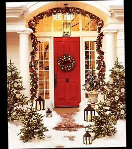 Christmas, Front, Door, Porch, Decorations