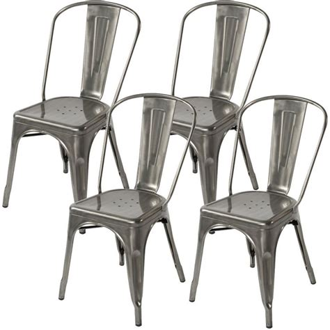 chaise metal tolix 17 best images about kitchen chairs gun metal on