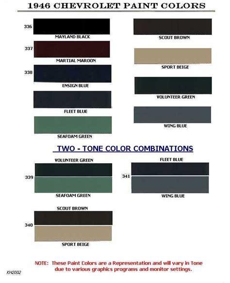 auto paint codes chevrolet paint codes 1946 1954 color trim pinterest car paint colors