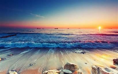 Resolution 4k Sunset Beach Ultra Wallpapers Waves