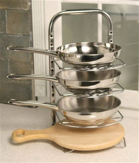kitchen pot and pan storage uhgoods height adjustable pan organizer rack for large 8397