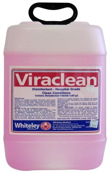 Whiteley 15L Viraclean Hospital Disinfectant