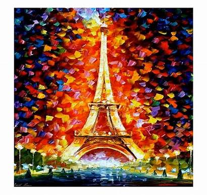 Eiffel Tower Colorful Painting Contemporary Paintings Tableau