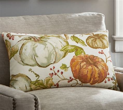 Pottery Barn Throw Pillows For by Watercolor Painted Pumpkin Patch Lumbar Pillow Cover