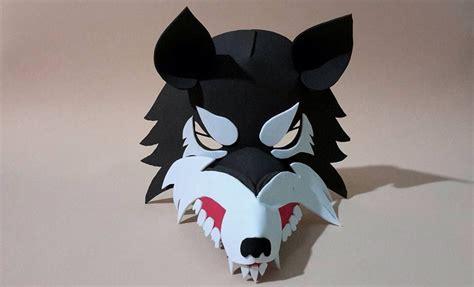 mascaras lobo nios m 225 scara de lobo de foamy 38 00 en mercado libre