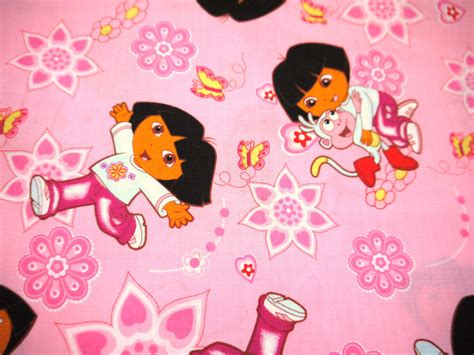 Dora The Explorer With Boots The Monkey Fat Quarter Fabric