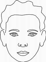Face Coloring Blank Template Pages Drawing Makeup Kid Child Paint Chart Getdrawings Jeff Sketch Facepaint Hardy sketch template