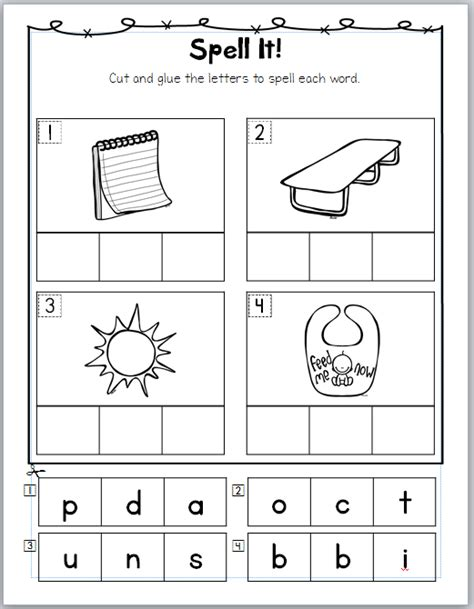 free cut and paste blends worksheets homeshealth info