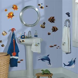Decorate kids bathroom under the sea tropical fish and