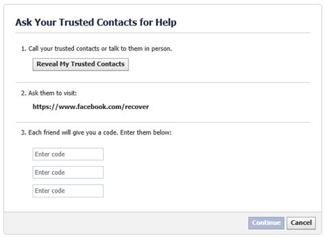 how to use trusted contacts to gain access to your locked account