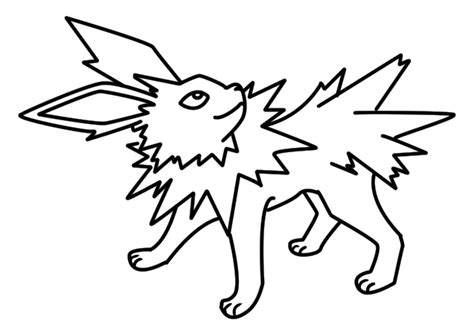 Jolteon Kleurplaat by Jolteon Coloring Pages Coloring Page