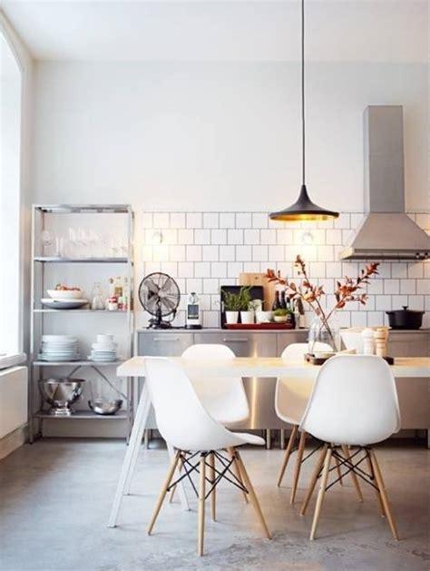 white retro litchen chairs the interior design