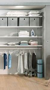 Kleiderschrank Selbst Gebaut : so einfach l sst sich ein begehbarer kleiderschrank selbst machen regalsystem wei grau ~ Markanthonyermac.com Haus und Dekorationen