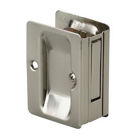 pocket door hardware richelieu hardware 3 7 32 in brushed nickel pocket door