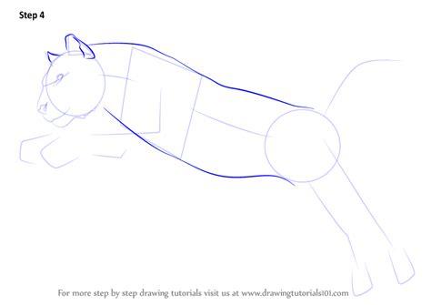learn   draw  tiger jumping big cats step  step