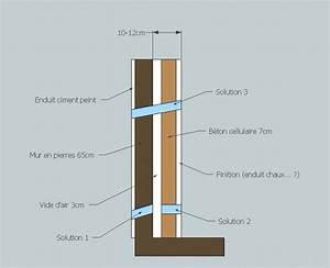 Refaire Un Mur Humide : refaire l 39 isolation de vieux murs en pierres entre autres ~ Premium-room.com Idées de Décoration
