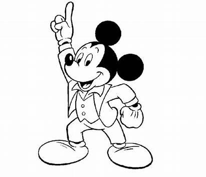 Mickey Mouse Cartoon Drawing Disney Kid Coloring