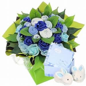 bouquet naisance bleu coffret avec chaussons florajet With affiche chambre bébé avec livraison bouquet de fleurs en martinique