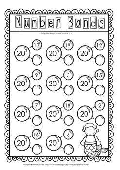 making 20 twenty worksheets printables includes number bonds