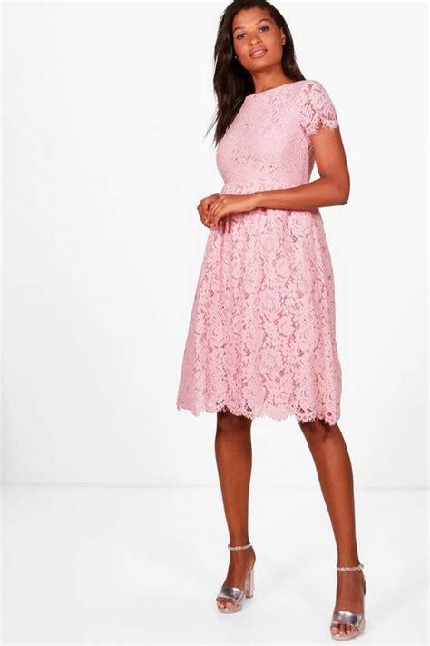 Midi Dress Dress Ola By Ladiva boutique ola eyelash lace midi skater dress boohoo