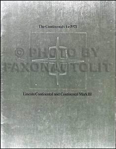 1971 Lincoln Mark Iii Wiring Diagram Original