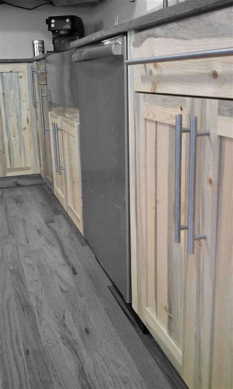Beetle kill pine kitchen cabinets by Denver based Blu