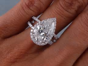 pear shaped engagement ring 3 81 carats ct tw pear shape engagement ring d si1 ebay