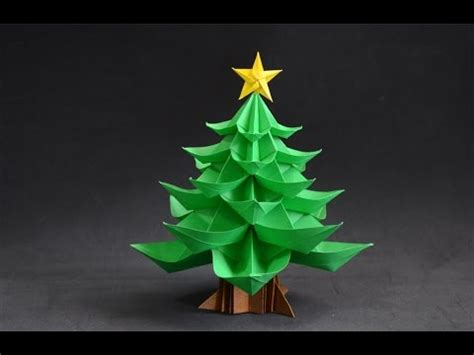 christmas tree out of paper origami tree