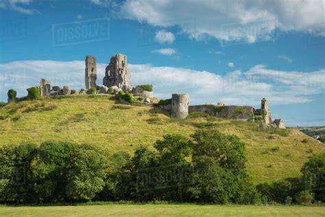 ruins  corfe castle  wareham isle  purbeck