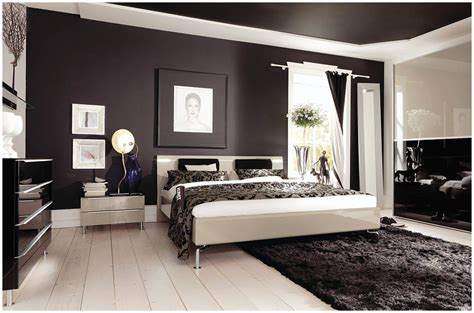 modern bedroom arrangement ideas  brown wall paint