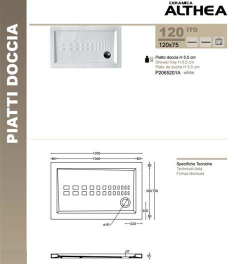 Piatto Doccia 75x120 by Piatto Doccia 75x120 Cm Rettangolare In Ceramica H 5 5 Cm