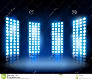 Floodlights vector illustration stock